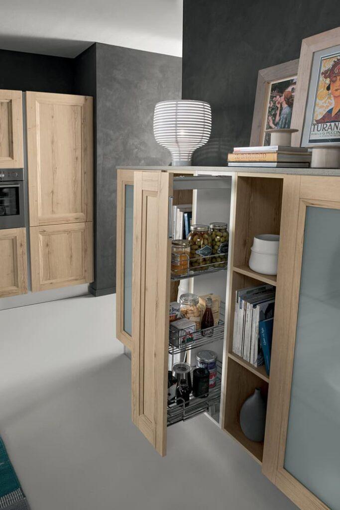 Colombini Casa Cucina Moderna Riviera cestelli estraibili 39b
