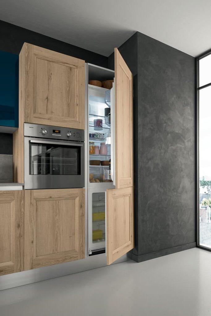 Colombini Casa Cucina Moderna Riviera colonna frigo integrato 35c