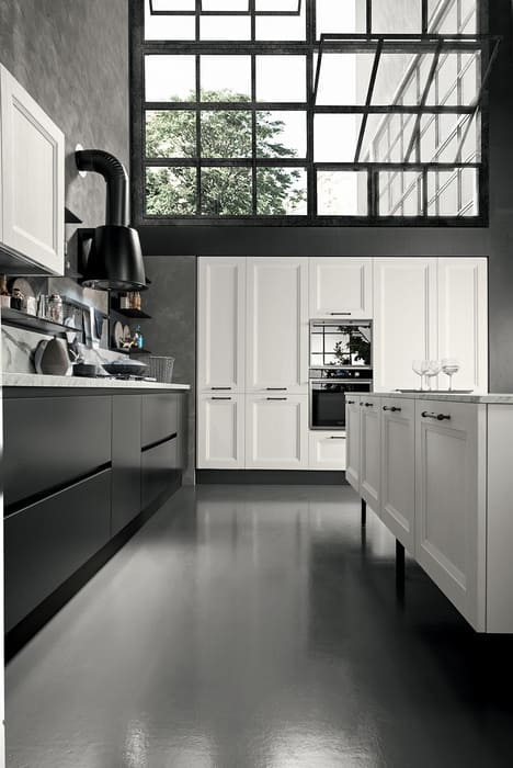 Colombini Casa Cucina Moderna Riviera grigio asfalto e bianco 68