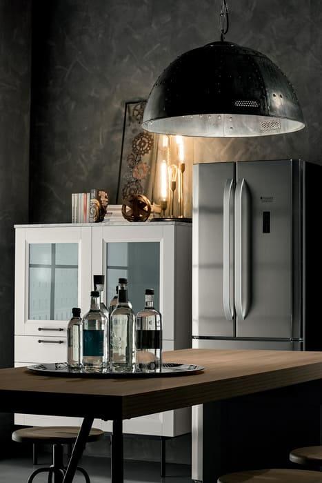 Colombini Casa Cucina Moderna Riviera isola con tavolo alto 67b