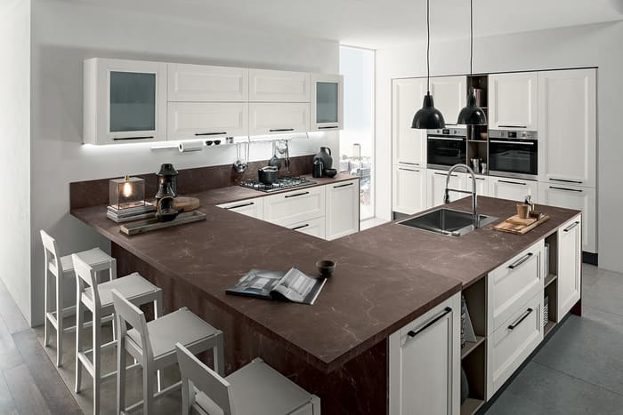 Colombini Casa Cucina Moderna Riviera larice bianco e piano scuro 15 1