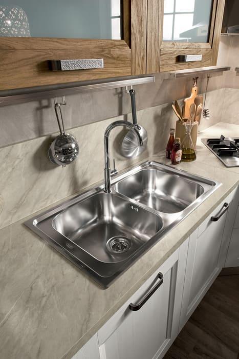 Colombini Casa Cucina Moderna Riviera lavello acciaio 87a