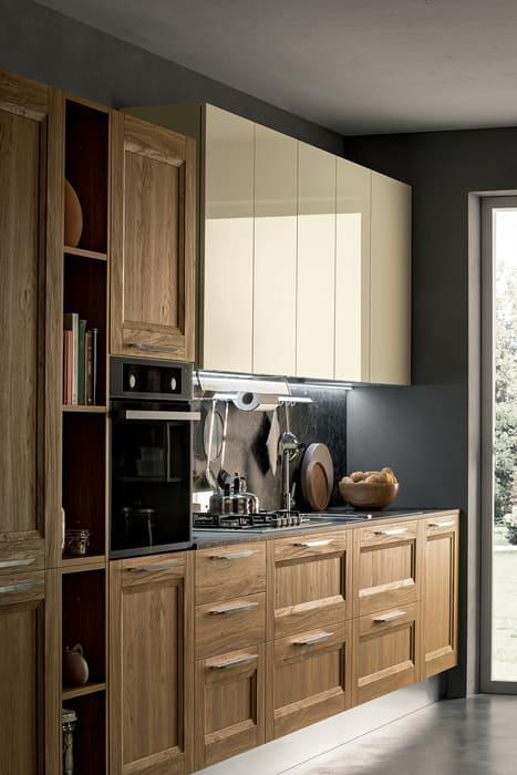 Colombini Casa Cucina Moderna Riviera legno e laccato avorio 53