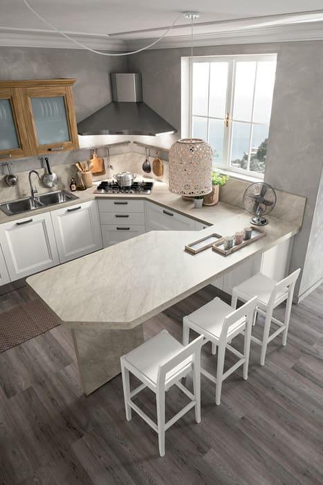Colombini Casa Cucina Moderna Riviera penisola piano sagomato 82