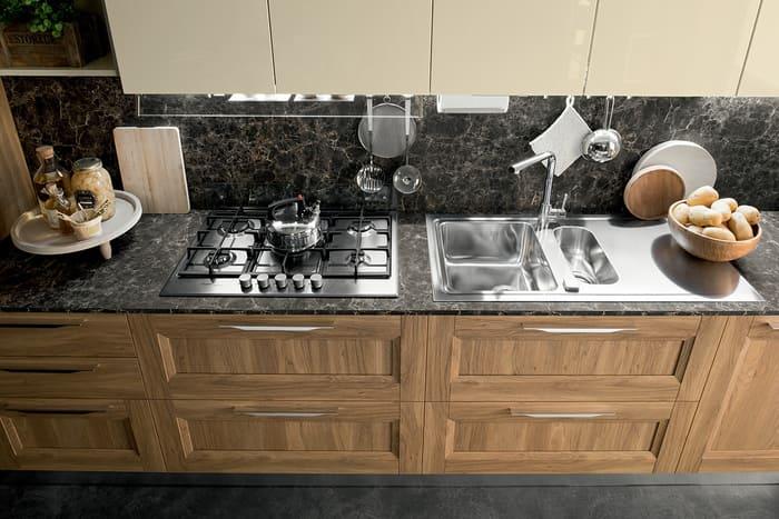 Colombini Casa Cucina Moderna Riviera piano scuro 51b