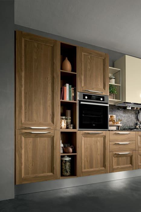 Colombini Casa Cucina Moderna Riviera sportelli color legno 52a