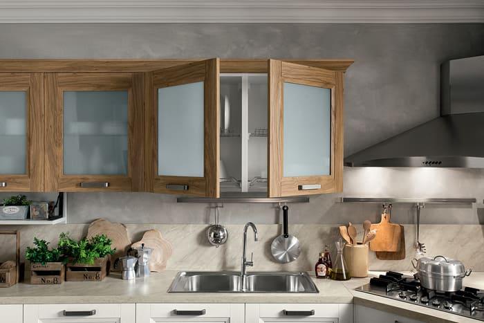Colombini Casa Cucina Moderna Riviera sportelli con vetri satinati 90
