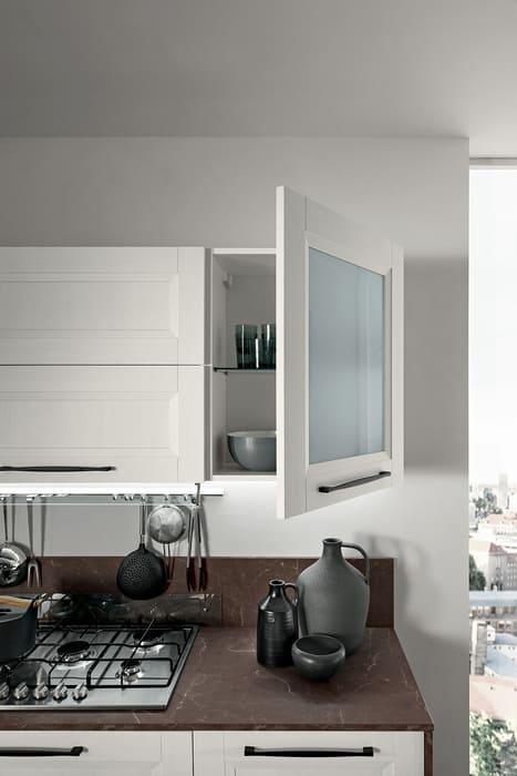 Colombini Casa Cucina Moderna Riviera sportelli con vetro satinato 17c 1