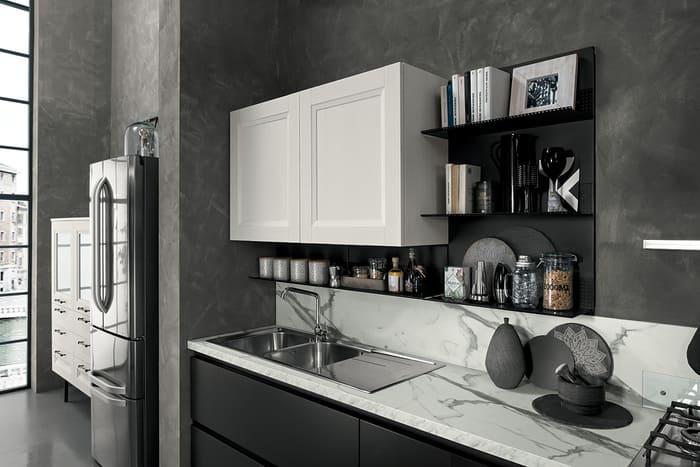Colombini Casa Cucina Moderna Riviera sportelli lisci e bugnati 70b