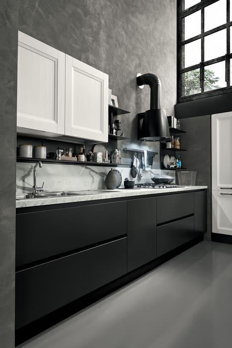Colombini Casa Cucina Moderna Riviera sportelli senza maniglia 69b