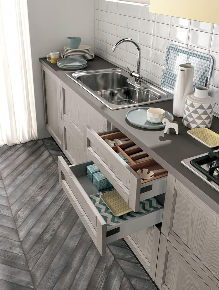 Colombini Casa Cucina Moderna Talea6 cassetti pag 41b