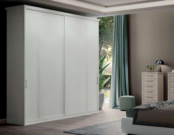 Colombini Casa camera matrimoniale armadio bianco semplice e elegante Electa EM07 56 57