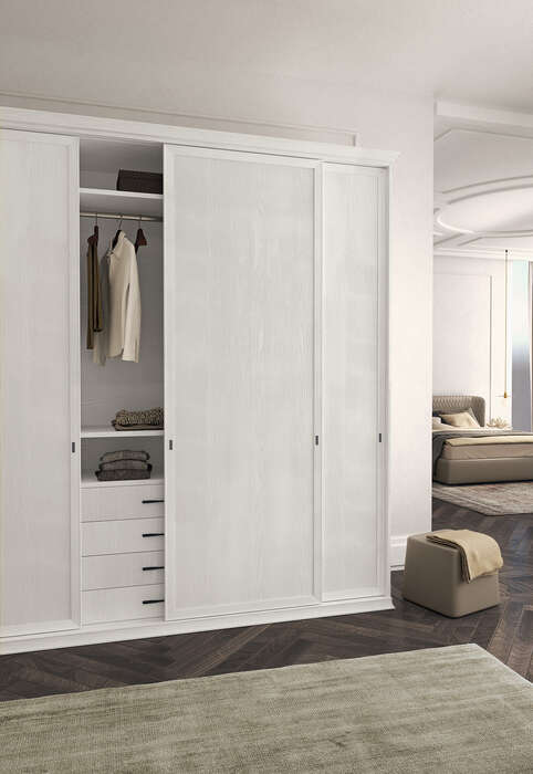 Colombini Casa camera matrimoniale armadio scorrevole stile contemporaneo Electa EM02 18