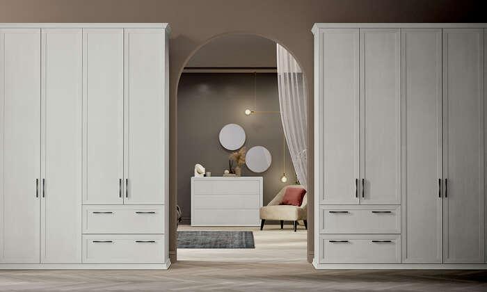 Colombini Casa camera matrimoniale armadio stile semplice e lineare Electa EM05 40 41