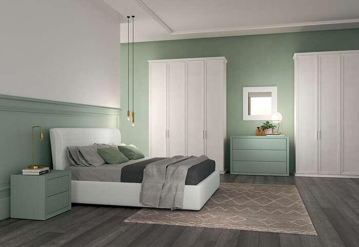 Colombini Casa camera matrimoniale colorata in stile contemporaneo Electa EM04 30 31