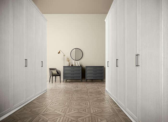 Colombini Casa camera matrimoniale comò stile contemporaneo Electa EM01 8 9
