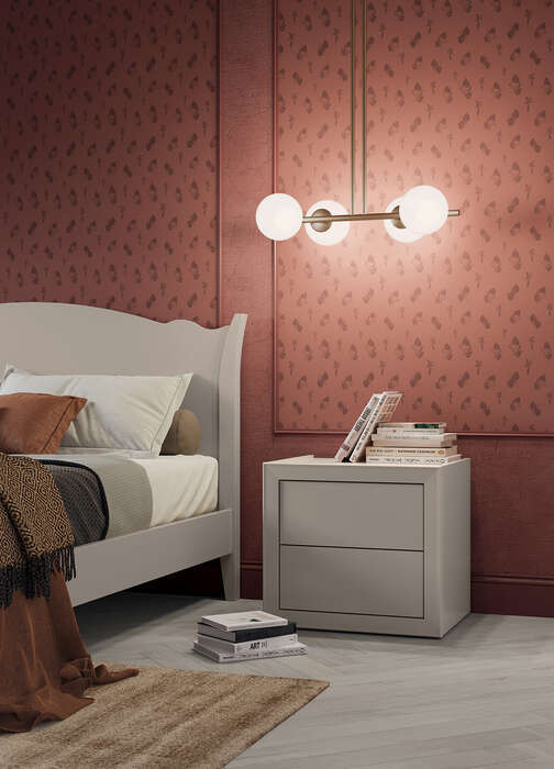 Colombini Casa camera matrimoniale comodini in stile romantico contemporaneo Electa EM03 26