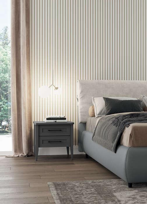 Colombini Casa camera matrimoniale comodino semplice e elegante Electa EM06 50