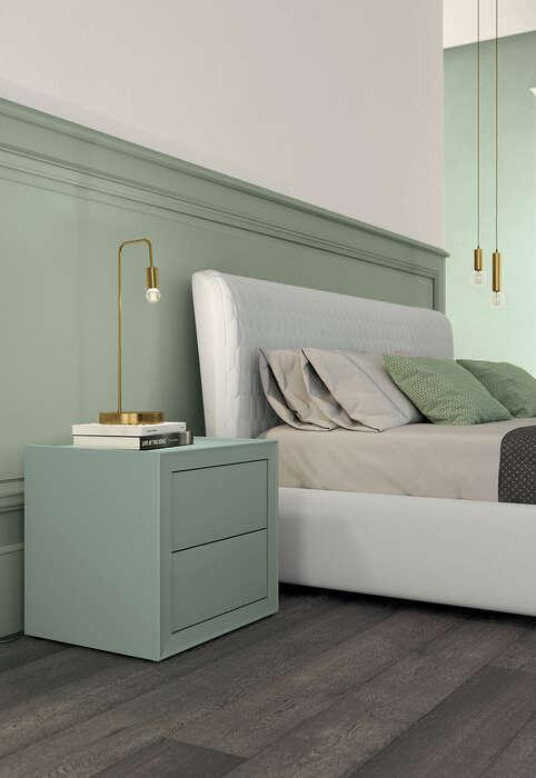 Colombini Casa camera matrimoniale con comodini colorati in stile contemporaneo Electa EM04 34
