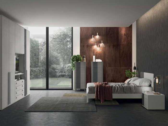 Colombini Casa camera matrimoniale moderna bianca golf M210 062 063 GEN