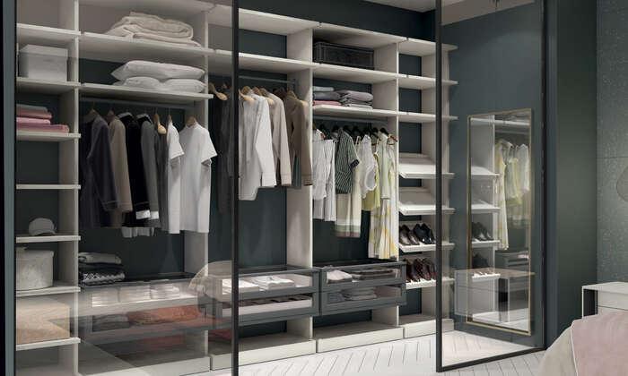 Colombini Casa camera matrimoniale moderna con cabina armadio golf M206 038 039