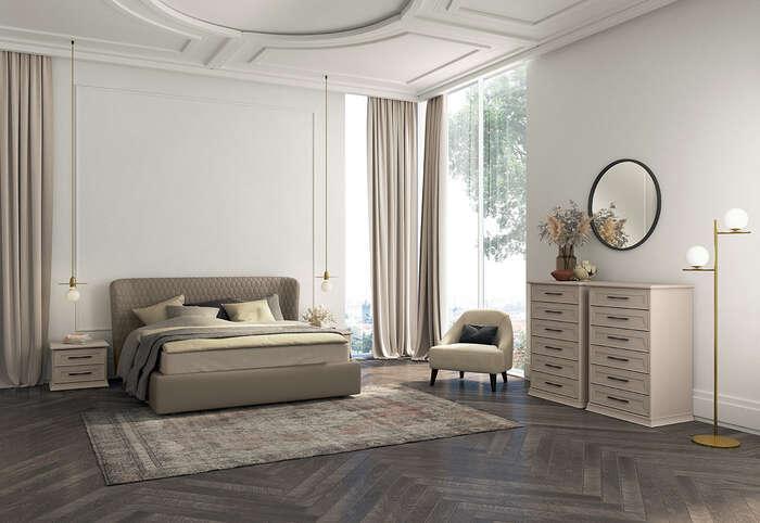 Colombini Casa camera matrimoniale stile contemporaneo Electa EM02 14 15