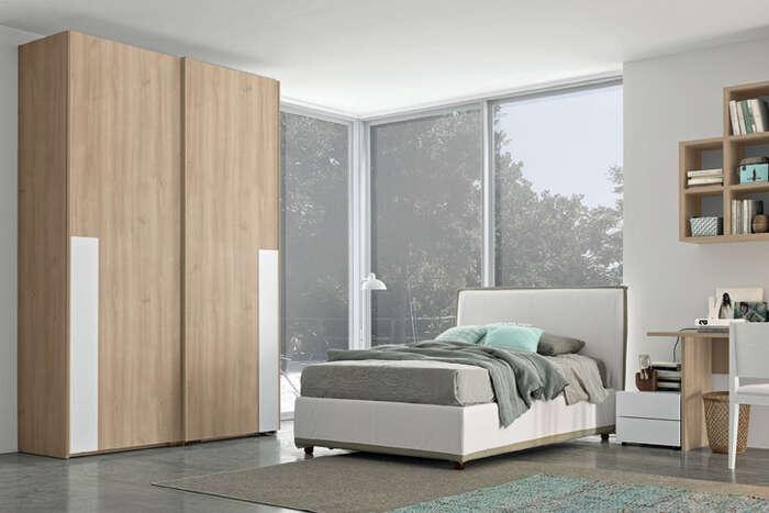Colombini Casa camera per ragazzi armadio color legno naturale Y233 159