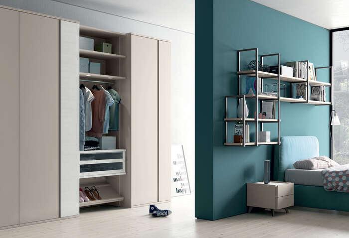 Colombini Casa camera per ragazzi armadio moderno Y203 020 021 scaled 1
