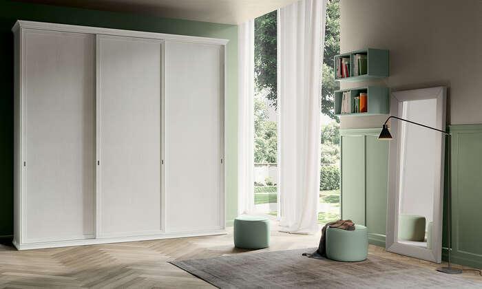 Colombini Casa camera per ragazzi armadio moderno bianco EC01 13