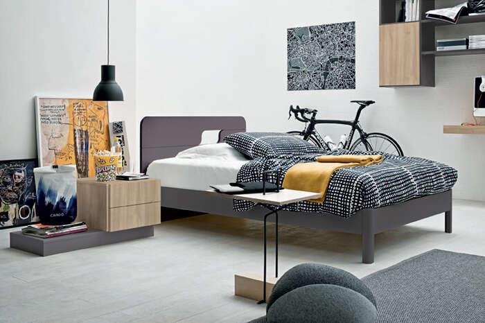 Colombini Casa camera per ragazzi letto moderno grigio Y222 113