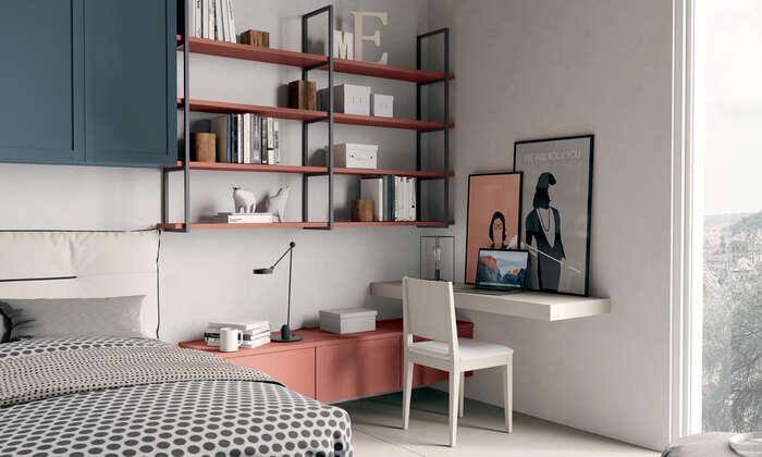 Colombini Casa camera per ragazzi libreria a parete Y206 042 043