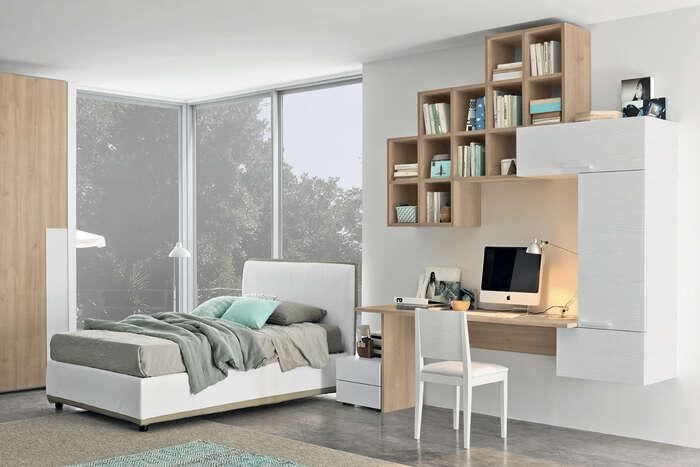 Colombini Casa camera per ragazzi libreria più scrivania stile moderno Y233 158