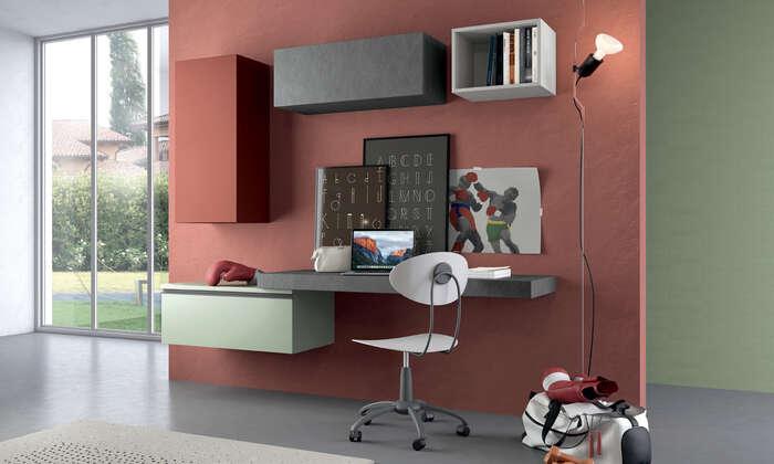 Colombini Casa camera per ragazzi moderna angolo studio Y204 028 029