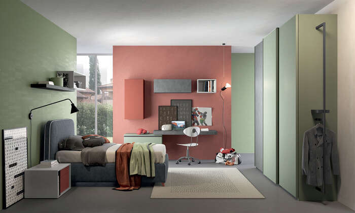 Colombini Casa camera per ragazzi stile moderno Y204 026 027 GEN