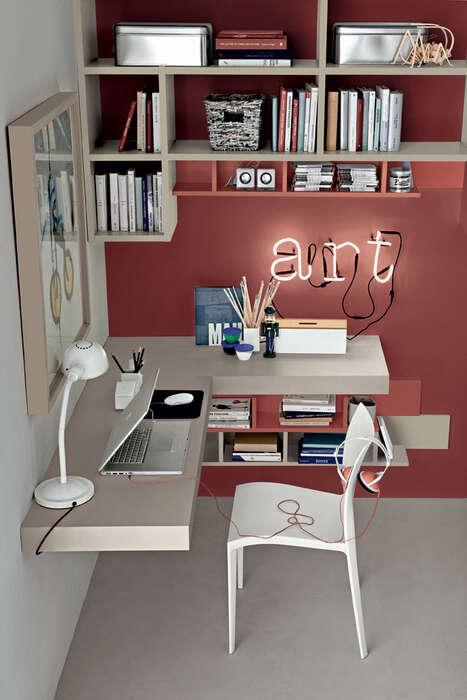 Colombini Casa camera per ragazzi stile moderno angolo studio Y205 036