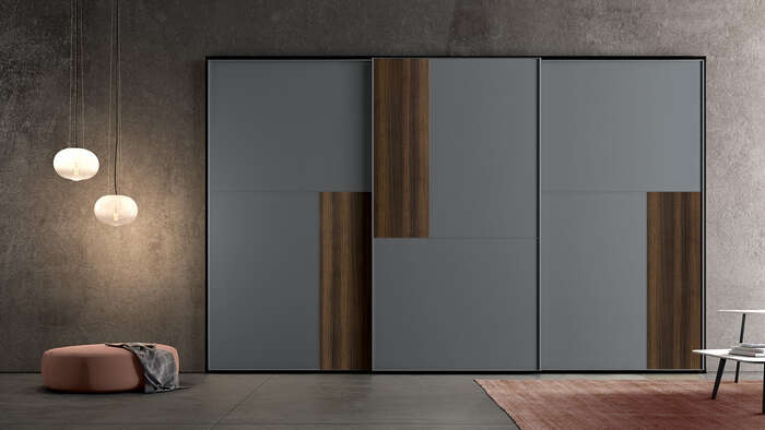 armadi in stile moderno con anta scorrevole personalizzabile
