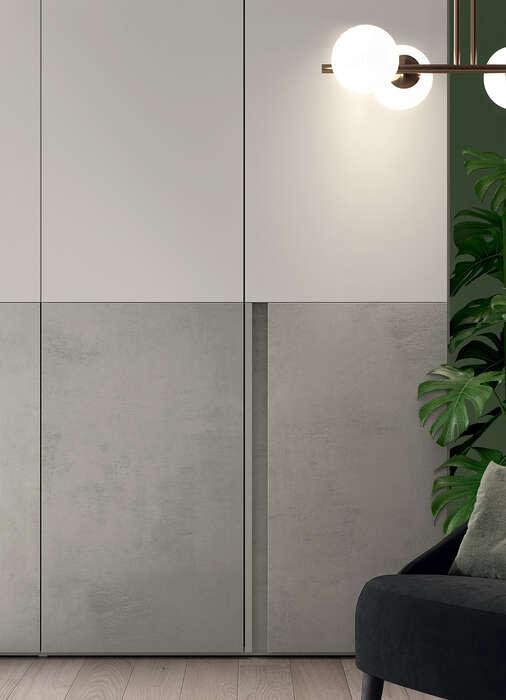 armadio anta battente in stile moderno cutting dettaglio anta