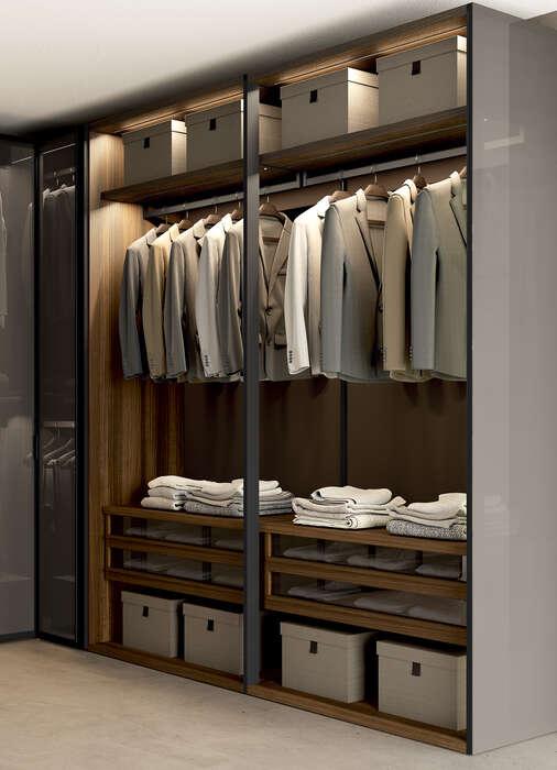 cabina armadio con illuminazione interna