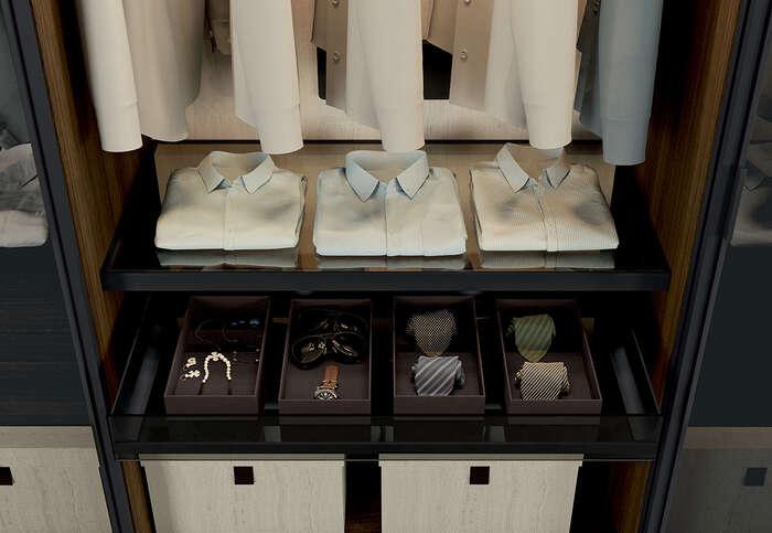 cabina armadio con portacravatta